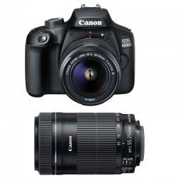 CANON EOS 4000D + 18-55 III + 55-250 IS Garanti 3 ans