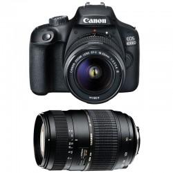 CANON EOS 4000D + 18-55 III + TAMRON 70-300 DI Garanti 3 ans