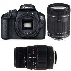 CANON EOS 4000D + 18-135 IS + SIGMA 70-300 DG MACRO GARANTI 3 ans