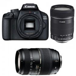 CANON EOS 4000D + 18-135 IS + TAMRON 70-300 DI Garanti 3 ans