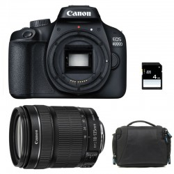 CANON EOS 4000D + 18-135 IS STM Garanti 3 ans + Sac + SD 4Go