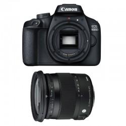 CANON EOS 4000D + SIGMA 17-70 F2.8-4 DC Macro OS HSM Garanti 3 ans