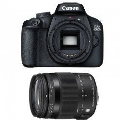 CANON EOS 4000D + SIGMA 18-200 Macro OS HSM Contemporary GARANTI 3 ans