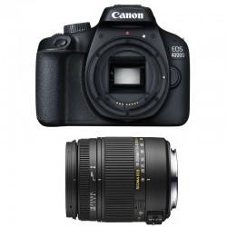 CANON EOS 4000D + SIGMA 18-250 F3.5-6.3 DC MACRO OS GARANTI 3 ans
