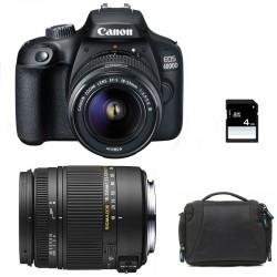 CANON EOS 4000D + SIGMA 18-250 F3.5-6.3 DC MACRO OS GARANTI 3 ans + Sac + SD 4Go