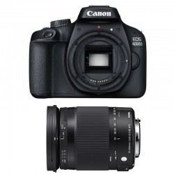 CANON EOS 4000D + SIGMA 18-300 Macro OS HSM Contemporary GARANTI 3 ans
