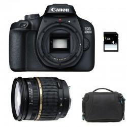 CANON EOS 4000D + TAMRON 17-50 LD Garanti 3 ans + Sac + SD 4Go