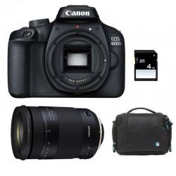 CANON EOS 4000D + TAMRON 18-400 VC GARANTI 3 ans + Sac + Carte SD 4Go