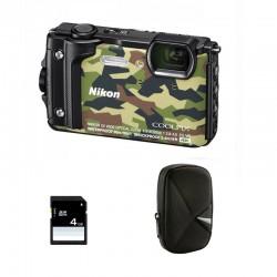 NIKON Compact Coolpix W300 Camouflage Garanti 2 ans + Sac et Carte SD 4 Go