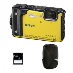 NIKON Compact Coolpix W300 Jaune Garanti 2 ans + Sac et Carte SD 4 Go