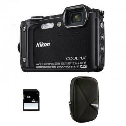 NIKON Compact Coolpix W300 Noir Garanti 2 ans + Sac et Carte SD 4 Go