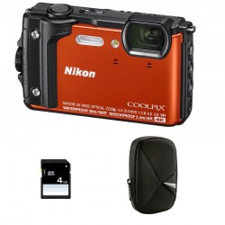 NIKON Compact Coolpix W300 Orange Garanti 2 ans + Sac et Carte SD 4 Go