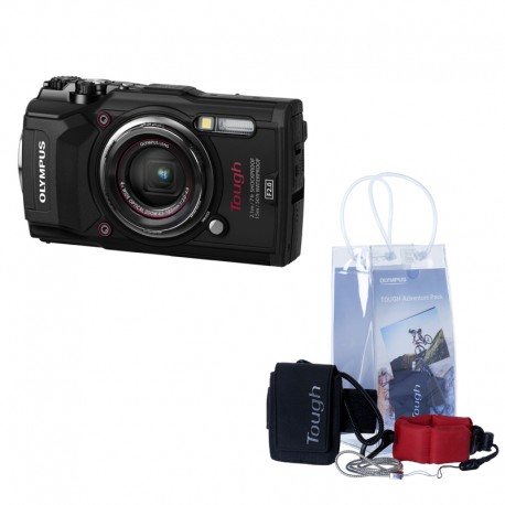 OLYMPUS TG5 Noir étanche + Pack aventure