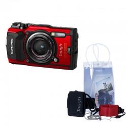 OLYMPUS TG5 Rouge étanche + Pack aventure