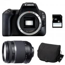CANON EOS 200D + TAMRON 18-270 VC PZD GARANTI 3 ans + Sac + Carte SD 4Go