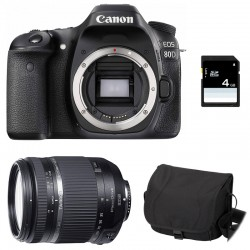 CANON EOS 80D + TAMRON 18-270 VC PZD GARANTI 3 ans + Sac + Carte SD 4Go