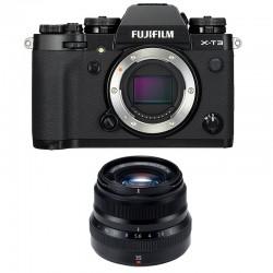 FUJIFILM X-T3 NOIR + 35mm F2 WR Garanti 3 ans