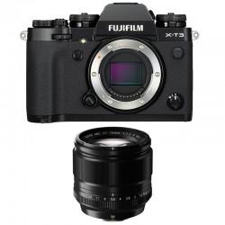 FUJIFILM X-T3 NOIR + 56mm Garanti 3 ans