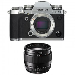 FUJIFILM X-T3 SILVER + 23mm F1.4 Garanti 3 ans