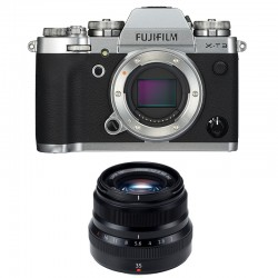 FUJIFILM X-T3 SILVER + 35mm F2 WR Garanti 3 ans