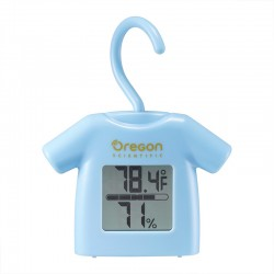 OREGON Thermomètre hygromètre style cintre bleu CHS0012B