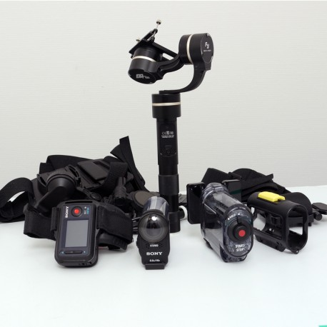 OCCASION SONY ACTION CAM HDR-AS200V + ACCESSOIRES +FEIYU Stabilisateur G4GS