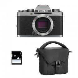 FUJIFILM X-T100 Dark Silver Garanti 3 ans + Sac et Carte SD 4 Go