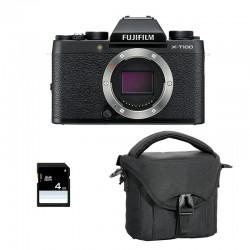 FUJIFILM X-T100 Noir Garanti 3 ans + Sac et Carte SD 4 Go