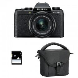 FUJIFILM X-T100 Noir + Objectif XC15-45 PZ GARANTI 3 ans + Sac et Carte SD 4 Go