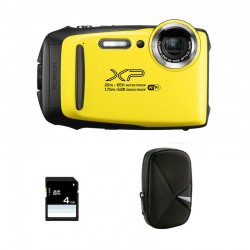 FUJIFILM compact étanche XP130 jaune Garantie 2 ans + Sac et Carte SD 4 Go