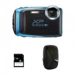FUJIFILM compact étanche XP130 Turquoise Garantie 2 ans + Sac et Carte SD 4 Go