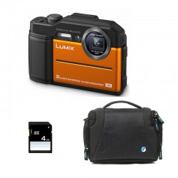 PANASONIC Lumix DC-FT7 Etanche/Antichoc Orange Garanti 2 ans + Sac et Carte SD 4 Go
