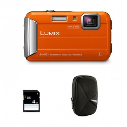 PANASONIC LUMIX DMC-FT30 ORANGE Garanti 2 ans + Sac et Carte SD 4 Go
