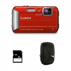 PANASONIC LUMIX DMC-FT30 ROUGE Garanti 2 ans + Sac et Carte SD 4 Go