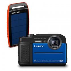PANASONIC Lumix DC-FT7 Etanche/Antichoc Bleu Garanti 2 ans avec chargeur solaire