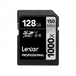 LEXAR Carte SDXC 128 Go 1000X Professional 150 Mo/s Classe 10 UHS-II U3