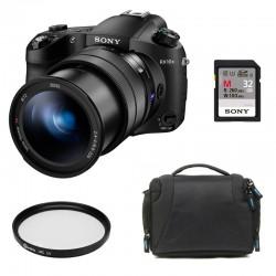 SONY Bridge DSC-RX10 III Garanti 2 ans + Filtre Starblitz HMC 72mm + SD Sony 32 Go + Sac