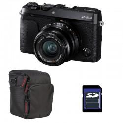 FUJIFILM X-E3 Noir + XF 23mm f/2 R WR Garanti 3 ans + Sac et Carte SD 4 Go
