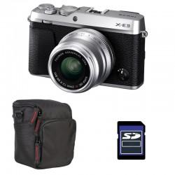 FUJIFILM X-E3 SILVER + XF 23mm f/2 R WR Garanti 3 ans + Sac et Carte SD 4 Go