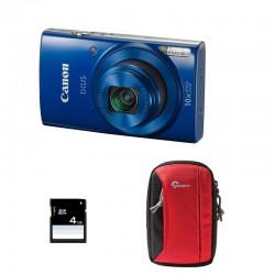 CANON Compact Ixus 190 Bleu Garanti 2 ans + Sac et Carte SD 4 Go