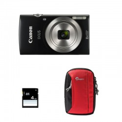 CANON Compact Ixus 185 Noir GARANTI 2 ans + Sac et Carte SD 4 Go