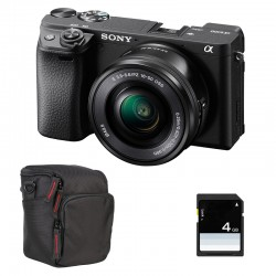 SONY ALPHA 6400 NOIR + 16-50 Garanti 3 ans + FT + SD