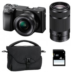 SONY ALPHA 6400 NOIR + 16-50 + 55-210 GARANTI 3 ans + FT + SD