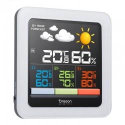 OREGON RAR502SX Station Météo Clima Control Blanc écran couleur