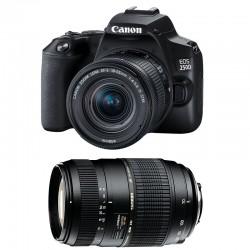 CANON EOS 250D + 18-55 IS STM + TAMRON 70-300 DI Garanti 3 ans