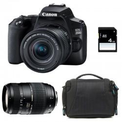 CANON EOS 250D + 18-55 IS STM + TAMRON 70-300 DI Garanti 3 ans + Sac + SD 4Go