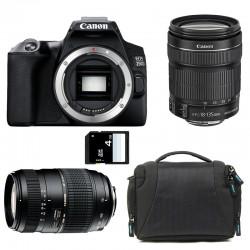 CANON EOS 250D + 18-135 IS STM + TAMRON 70-300 DI Garanti 3 ans + Sac + SD 4Go