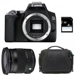 CANON EOS 250D + SIGMA 17-70 F2.8-4 DC Macro OS HSM Garanti 3 ans + Sac + SD 4Go