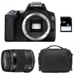 CANON EOS 250D + SIGMA 18-200 Macro OS HSM Contemporary Garanti 3 ans + Sac + SD 4Go