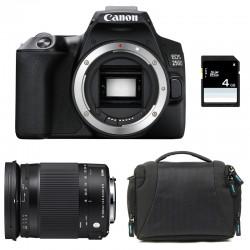 CANON EOS 250D + SIGMA 18-300 Macro OS HSM Contemporary Garanti 3 ans + Sac + SD 4Go